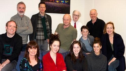 The RTÉ Drama On One team with the cast of their award-winning production of Hecuba