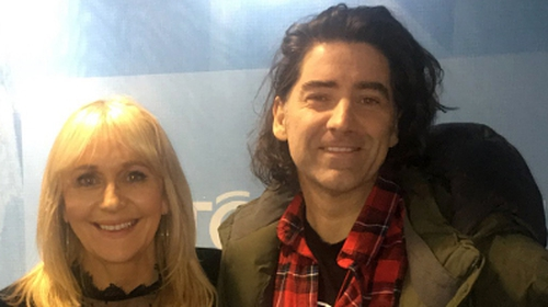 Miriam O'Callaghan and Brian Kennedy on Sunday's show Photo: Miriam O'Callaghan/Twitter