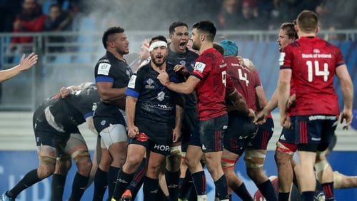 Munster lost 13-12 to Castres in a tempestuous Heineken Champions Cup encounter