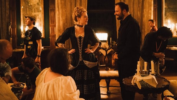 Oscar nominees Emma Stone (Best Supporting Actress) and Yorgos Lanthimos (Best Director) on the set of the Irish co-production The Favourite