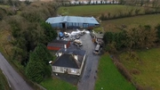RTÉ News: Aerial footage of aftermath of incident at Roscommon house