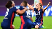 Hegerberg celebrates Lyons' Champions League win