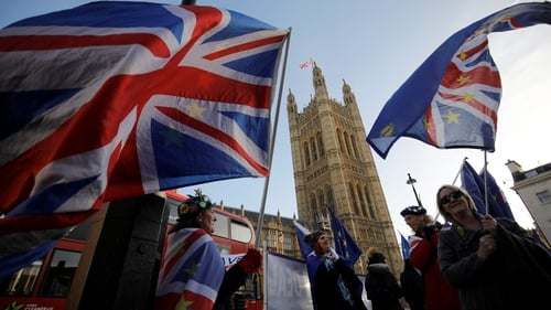 Anti-Brexit protesters have been holding demonstrations outside the Houses of Parliament