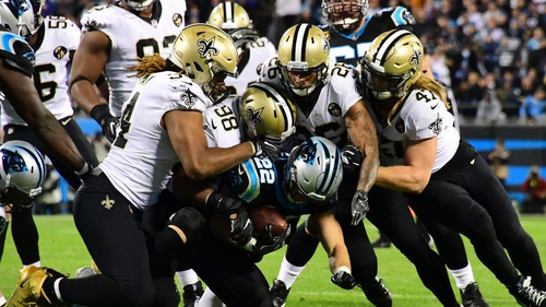Saints smother Panthers to close on home-field advantage for playoffs