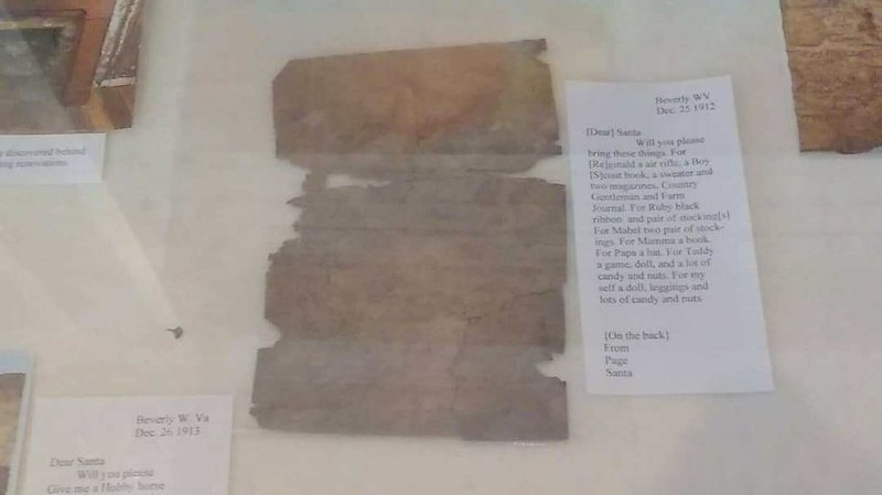 Letters were found hidden behind a chimney in West Virginia (Courtesy: Beverly Heritage Center/Christopher Mielke)