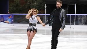 Brian McFadden and his partner Alex Murphy at the Dancing on Ice launch