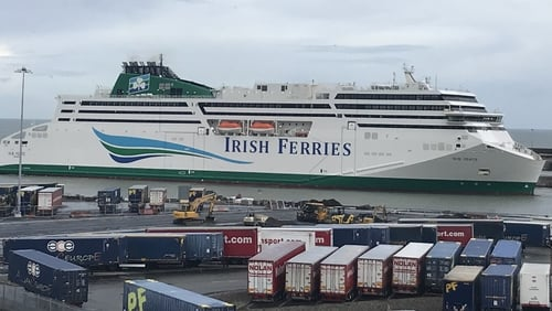 Irish Ferries said it will continue to keep the situation under review
