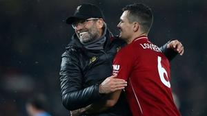 Dejan Lovren has left Liverpool with a glowing reference from boss Jurgen Klopp