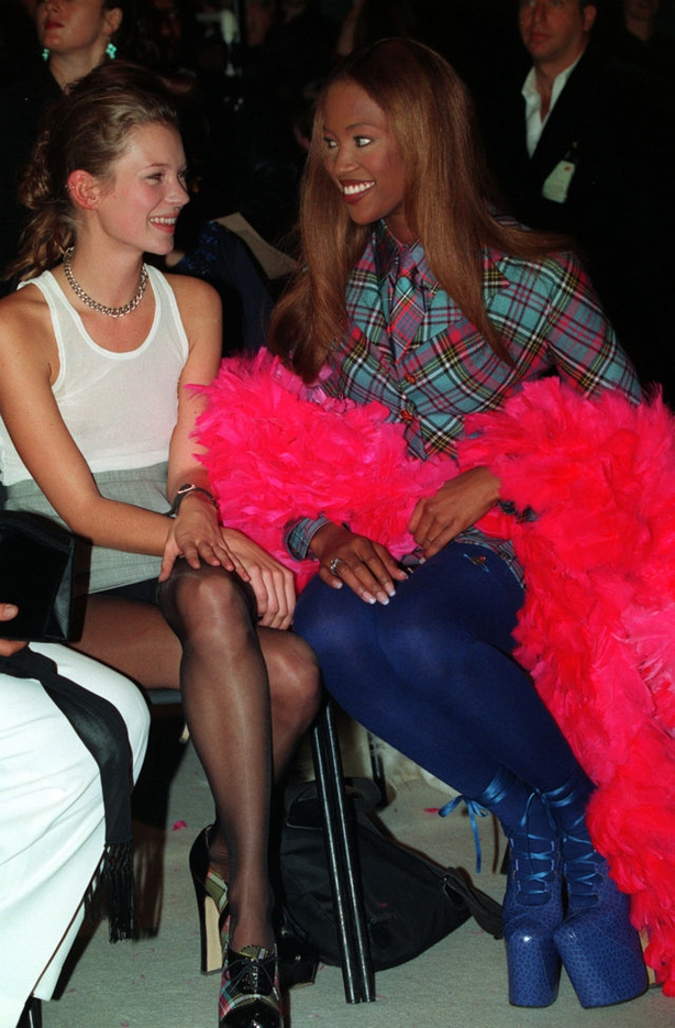 Naomi Campbell (R) and Kate Moss (Neil MunnsPA)