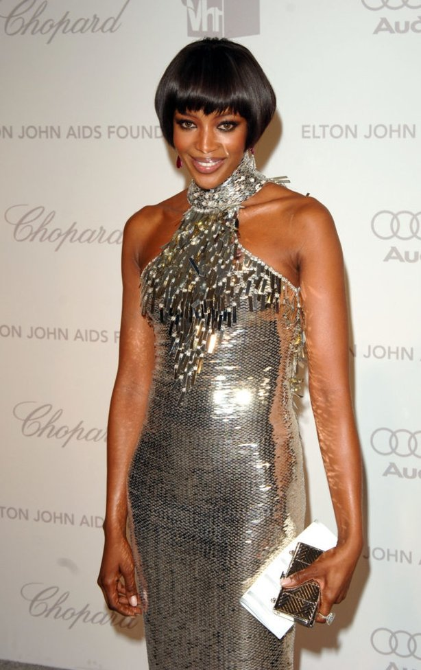 Naomi Campbell arrives for the annual Elton John Party at the Pacific Design Centre in Los Angeles. (Ian West/PA)