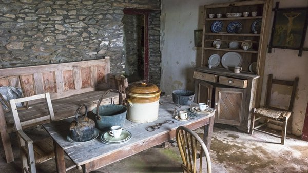 A soup pot in the interior of a 19th century Famine cottage in Co Kerry. Photo: Education Images/Universal Images Group via Getty Images