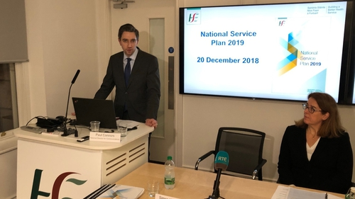 Minister for Health Simon Harris at the launch of the HSE Service Plan