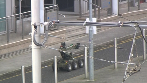 An Army Bomb Disposal Team carried out a controlled explosion on the suspect device
