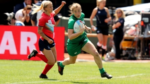 Eve Higgins in action for Ireland Sevens on the world series circuit