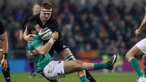 New Zealand's Sam Cane was yellow carded for a high tackle on Robbie Henshaw in 2016