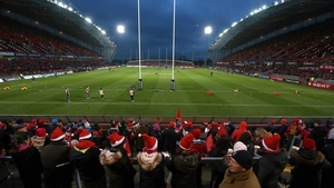 Munster fans at a Christmas derby