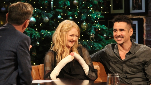 Emma Fogarty and Colin Farrell (pictured here on the Late Late Show on RTÉ One in December 2018) have been friends for over a decade
