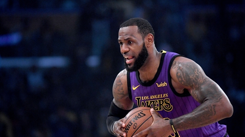 LeBron James scored his 76th career triple-double as the LA Lakers defeated the New Orleans Pelicans.