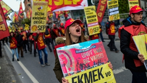 The protest, organised by the KESK, a confederation of public service workers unions, drew people from all over Turkey