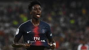 Paris Saint-Germain's French forward Timothy Weah