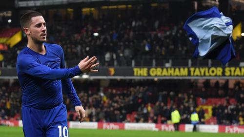 Eden Hazard's brace helped Chelsea to victory at Watford