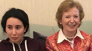 Mary Robinson with Princess Latifa in January 2019