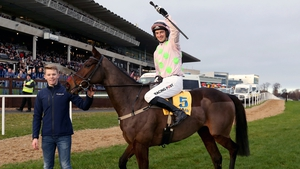 Patrick Mullins on Sharjah celebrates winning