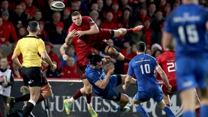 James Lowe saw red for running into Andrew Conway while the Munster man was airborne