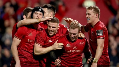 Munster have made six changes for the match in Cork