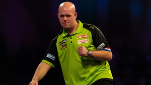 Michael Van Gerwen proved too strong for Ryan Joyce in the quarter-final