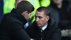 Brendan Rodgers tasted defeat in an Old Firm clash for the first time on Saturday
