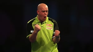 Michael van Gerwen was in dominant form as he took a big step towards a third world title