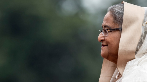 Sheikh Hasina was first elected prime minister in 1996