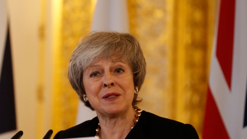 Theresa May said it is time for the UK to start a new chapter