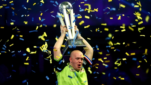 Michael van Gerwen joins a select group of darts players that have won three world titles after previous victories in 2014 and 2017
