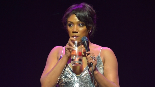 Tiffany Haddish onstage at the James L Knight Center in Miami, Florida on New Year's Eve