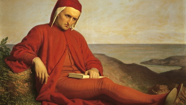 Dante Alighieri (1265-1321) in exile, by Domenico Petarlini, oil on canvas, 19th century.