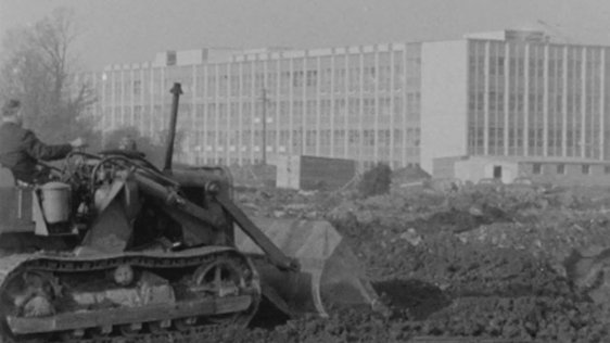 New UCD campus under construction at Belfield (1964)
