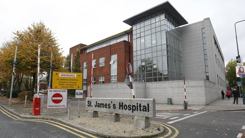 The promotion posters for cash prizes for staff in St James's Hospital have been taken down