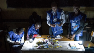 Results are still coming in from 73,000 voting stations across the DR Congo