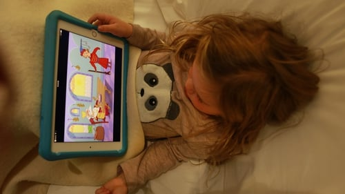 Experts say that looking at screens before bed can disrupt sleep