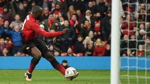Romelu Lukaku slots home the second goal for Manchester United