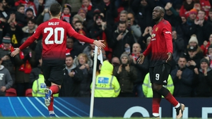 Romelu Lukaku celebrates his goal against Reading in the FA Cup