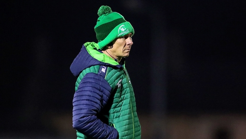 Connacht head coach Andy Friend in Galway last night