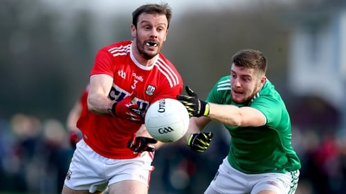 James Loughrey of Cork and Limerick's Brian Fanning