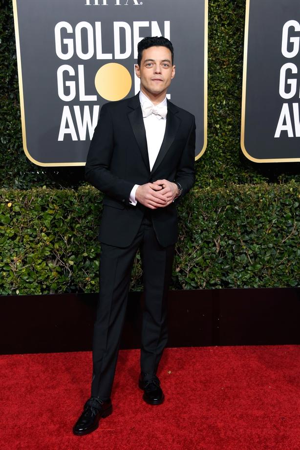 Rami Malek arrives at the 76th annual Golden Globe Awards (Jordan Strauss/AP)