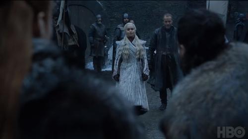 Daenerys arrives in Winterfell
