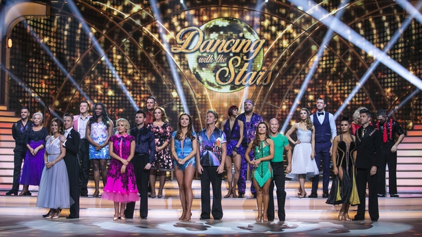 The dancers and celebs during the first live show of Dancing With The Stars