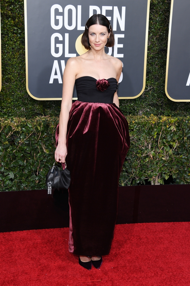 Caitriona Balfe at the Golden Globes.