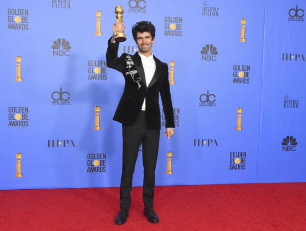 Ben Whishaw poses in the press room at the 76th annual Golden Globe Awards (Photo by Jordan Strauss/AP)